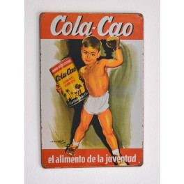 Cartel Publicitario Cola Cao Niño