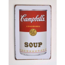 Cartel Metálico Campbell´s Soup