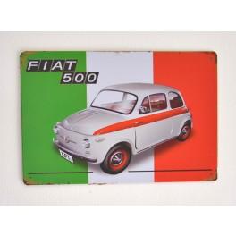 Cartel Metálico Fiat 500