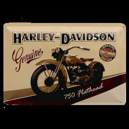 Cartel Publicitario Genuine Harley Davidson