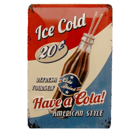 Cartel Publicitario Have a Cola