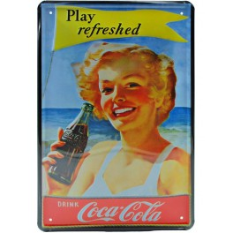 Cartel Publicitario Coca Cola Play Refreshed