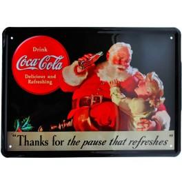 Cartel Publicitario  Coca-Cola Santa Claus