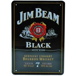 Cartel Publicitario Jim Beam negro