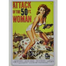 Cartel Metálico de El Ataque de la Mujer de 50 Pies