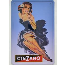 Cartel Metálico de Vermouth Cinzano