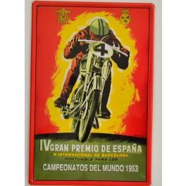 Cartel Metálico GP España 1953