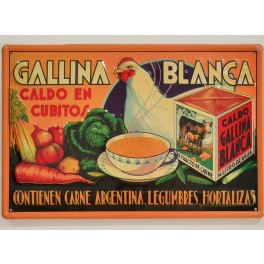 Cartel Publicitario Caldo Gallina Blanca