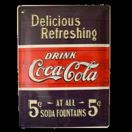 Cartel Publicitario Coca Cola Soda