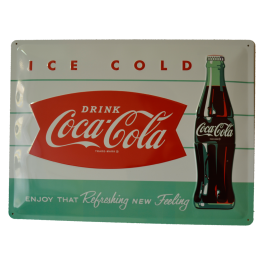 Cartel Publicitario Coca Cola Ice Cold