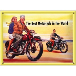 Postal Metálica Best Motorcicle