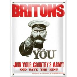 Postal Metálica Britons