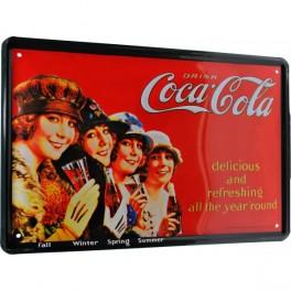 Cartel Publicitario Coca Cola four seasons