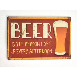 Cartel de Cerveza Beer, the reason...