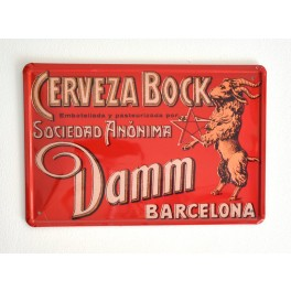 Cartel de Cerveza Damm