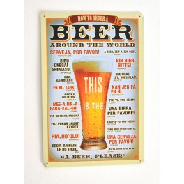 Cartel de Cerveza How to Order a Beer