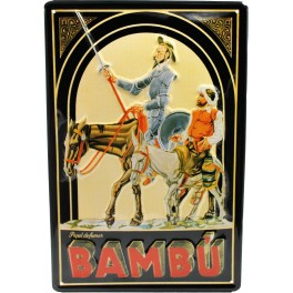 Cartel Publicitario Bambú, papel de fumar