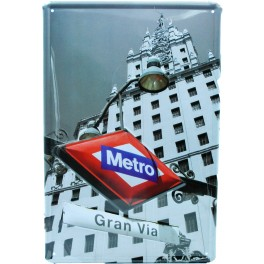 Cartel Metálico Metro Gran Vía