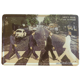 Cartel Metálico Beatles Abbey Road