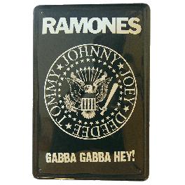 Cartel Metálico Ramones