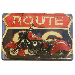Cartel Metálico Route 66