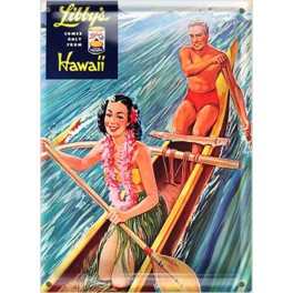 Postal Metálica  Libbys Hawaii