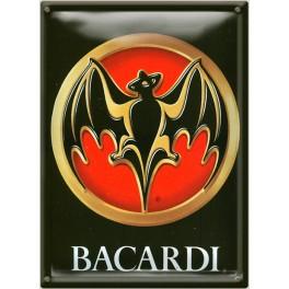 Postal Metálica Bacardi