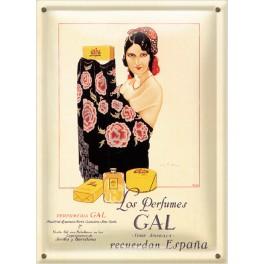 Postal Metálica Los Perfumes Gal