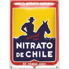 Postal Metálica Nitrato De Chile