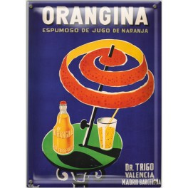 Postal Metálica Orangina