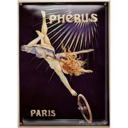 Postal Metálica Phebus Paris