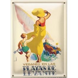Postal Metálica Playas de Levante