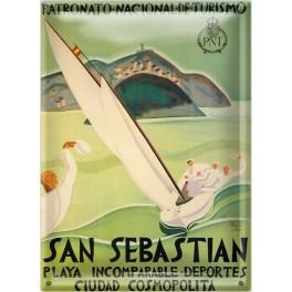 Postal Metálica San Sebastián Turismo