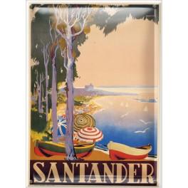 Postal Metálica Santander