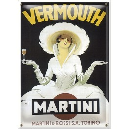 Postal Metálica Vermouth Martini