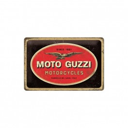 Cartel Metálico Moto Guzzi Logo