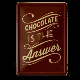 Postal Metalica Chocolate