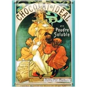 Postal Metálica Chocolate Ideal