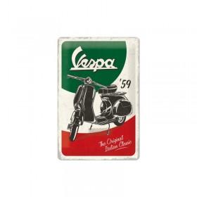 Cartel Metálico Moto Vespa 59