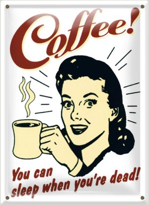 Postal Metálica Coffee