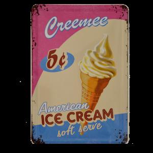 Postal Metálica Ice Cream