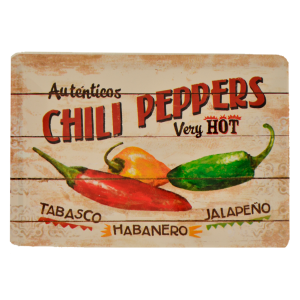 Postal Metálica Chilly Peppers