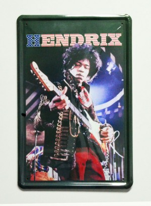 Cartel  Metálico Jimmy Hendrix