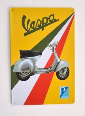 Cartel Publicitario Moto Vespa
