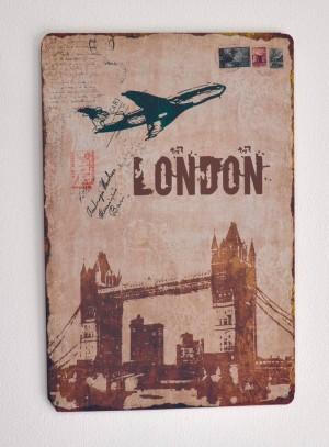 Cartel Metálico London