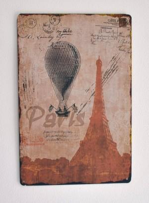 Cartel Metálico Paris