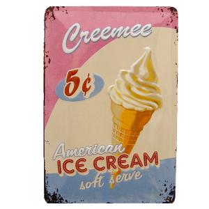 Cartel Publicitario American Ice Cream