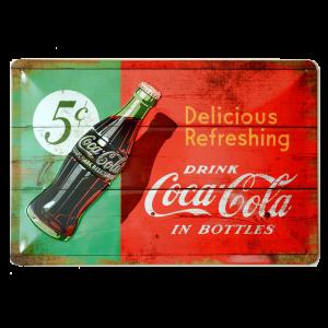 Cartel Publicitario Coca Cola 5 Cents