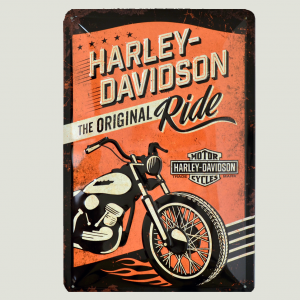 Cartel Metálico de Harley Davidson, the Original Ride