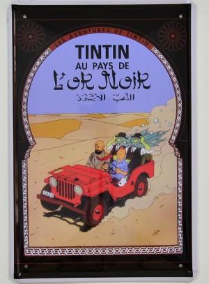 Cartel Metálico Tintín, el País del Oro Negro